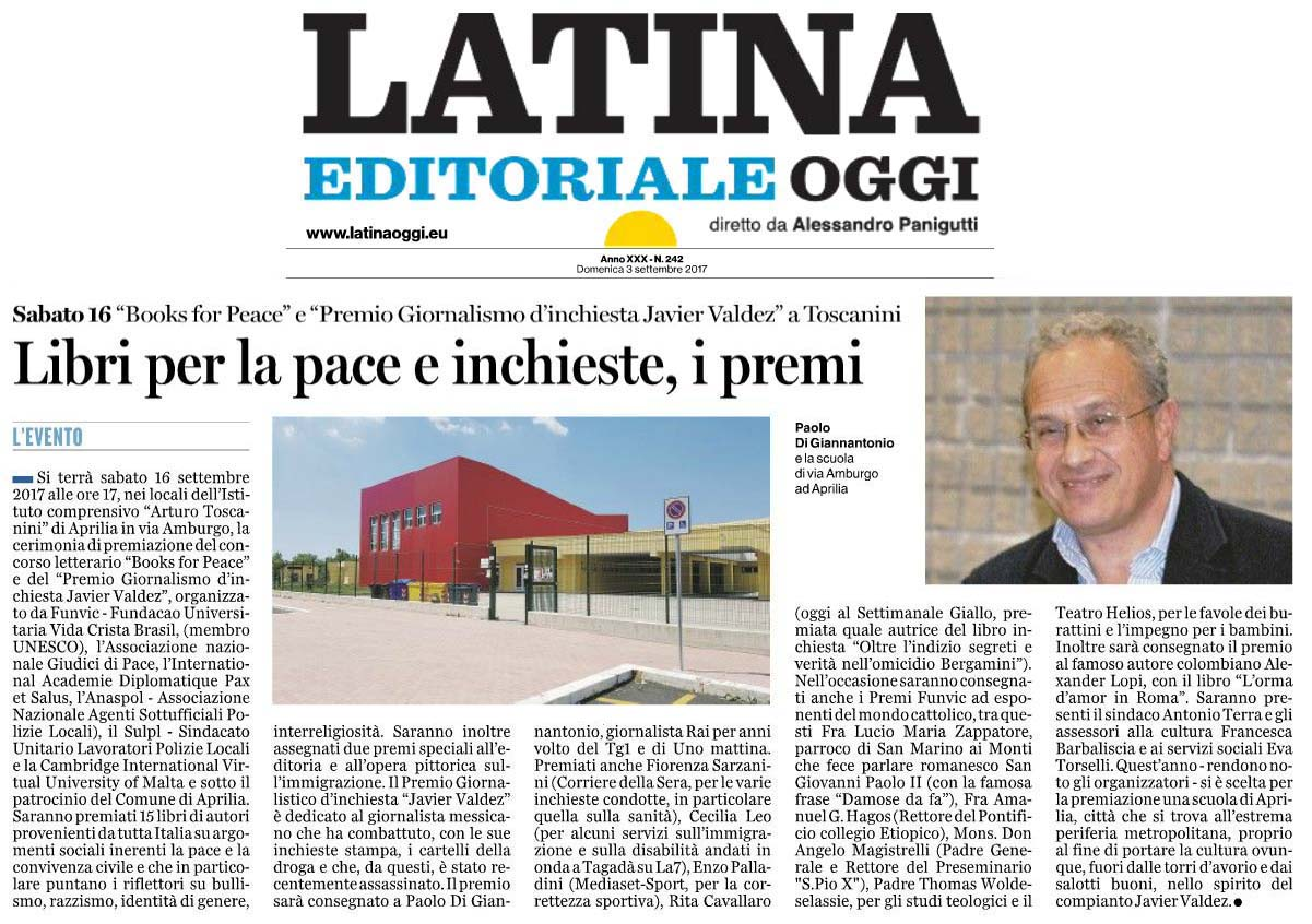 Latina Oggi, 3 settembre 2017