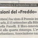 Premiazioni 2018 Books for Peace e J. Valdez – Rassegna Stampa