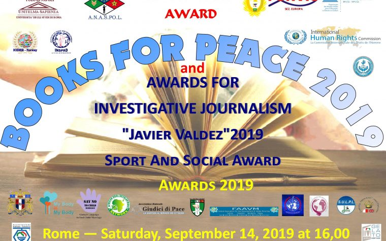 BOOKS FOR PEACE 2019: AN AWARD WITH IMPORTANT INTERNATIONAL RECOGNITIONS & COLLABORATIONS