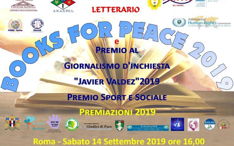 Books For Peace 2019: Collaborazioni e riconoscimenti in Italia