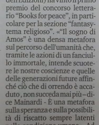 The Books for Peace in Liguria press