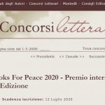 "The Books for Peace 2020 in the prestigious cultural magazine ""concorsiletterari.it"""