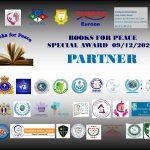 BOOKS FOR PEACE: UN PREMIO CON IMPORTANTI RICONOSCIMENTI & COLLABORAZIONI INTERNAZIONALI