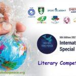 """Pubblicato il Regolamento del Concorso Letterario della V edizione del Premio Letterario """"Books for Peace"""" 2021"""