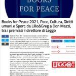 Books for Peace 2021 – rassegna stampa: LEGGO