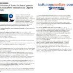 Books for Peace 2021 – rassegna stampa – InformaMolise
